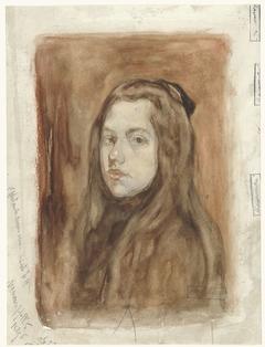 Portret van een meisje met lang haar