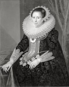 Portret van Johanna Martens (1599-1639), echtgenote van Anthonie van Hilten