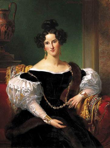 Portret van Olga Emilie Sillem (1814-1899), echtgenote van Johannes Borski
