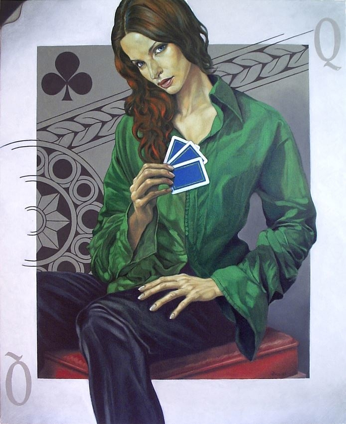 Queen of Clubs / Reina de Tréboles