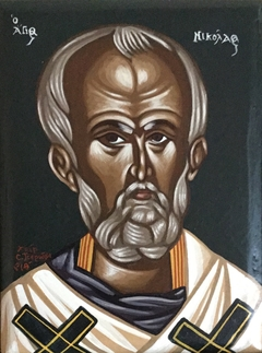 Saint Nicholas - Egg Tempera on Wood
