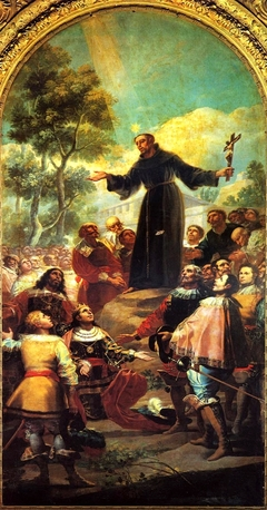 San Bernardino of Siena preaching before Alfonso V of Aragon