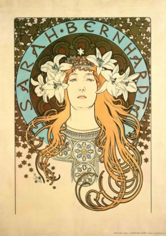 Sarah Bernhardt as La Princesse Lointaine: poster for 'La Plume' magazine
