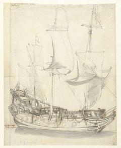 Schip de Princesse Royale van vice-admiraal Witte de With
