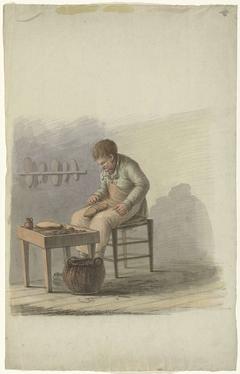 Schoenmaker aan het werk