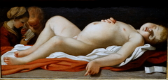 Sleeping Christ Child with Mary and Joseph