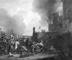 Soldiers Looting and Burning a Convent