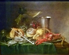 Still life, Breakfast with Wine glass and Goudse pipe
