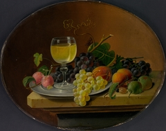 Still Life Fruit and Wine Glass