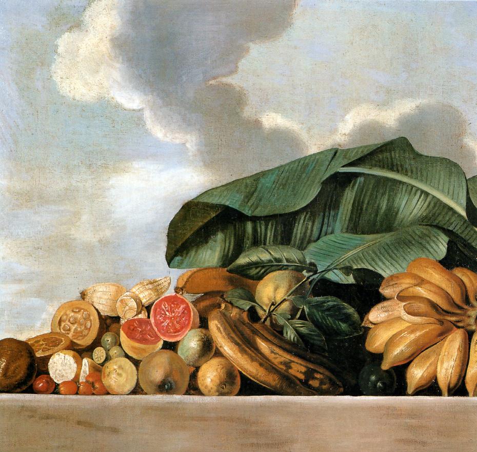 Still-life of citrus fruit and bananas
