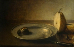 Still Life, Pear and Plate
