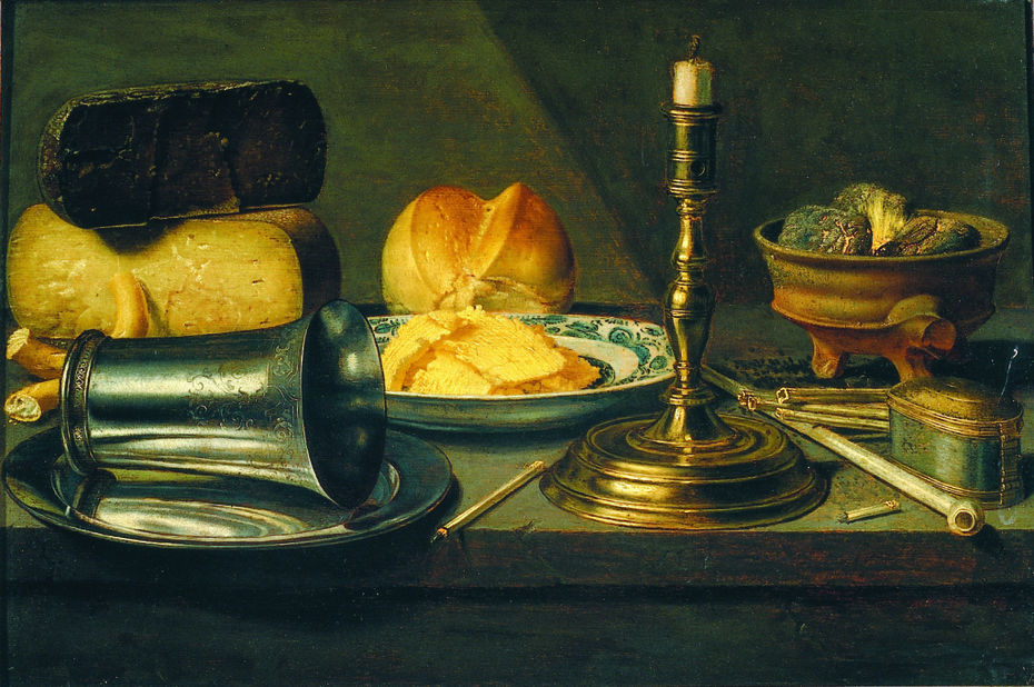 Still Life with Cheese, Candlestick and Tobacco