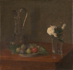 Still Life with Glass Jug, Fruit and Flowers