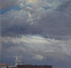 Stormclouds over the Castle Tower in Dresden