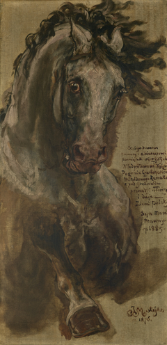 "Study for the Horse of Grand Duke of Lithuania Vytautas for the Painting ""The Battle of Grunwald"""