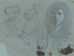 Study of Heads, Hands and Feet
