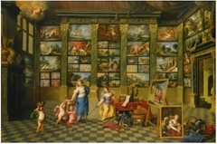 The Allegorical Female Figures Nature and Pictura in an Art Collection, with Representative Antwerp Canvasses