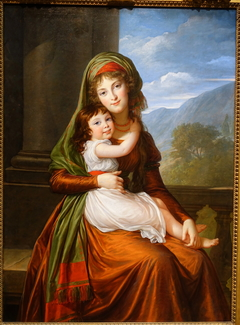 The Countess von Schoenfeld with Her Daughter