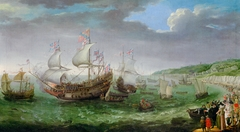 The embarkation of the Elector Palatinate Frederick V in the 'Prince Royal' at Dover