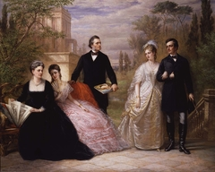 The Field Family in a Garden