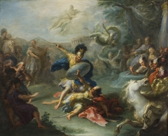 The Fight between Aeneas and King Turnus, from Virgil's Aeneid