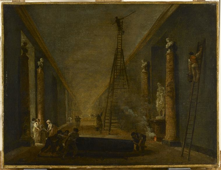 The Grande Galerie of the Louvre Undergoing Renovation Works, circa 1798-99
