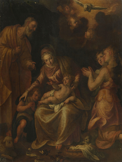 The Holy Family, Saint John, and Angels