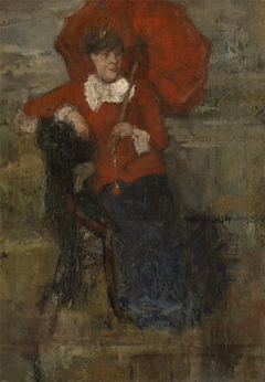 The Lady with Red Parasol