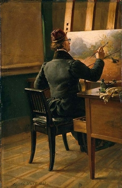 The Painter J. C. Dahl at his Easel