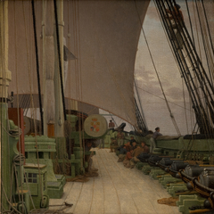 """The Starboard Battery and the Deck of the Corvette """"Najaden"""""""