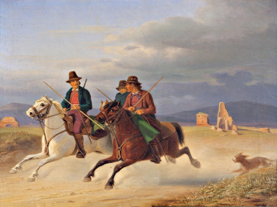 Three Riders of the Campagna