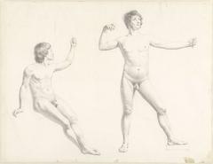 Twee mannelijke naaktstudies