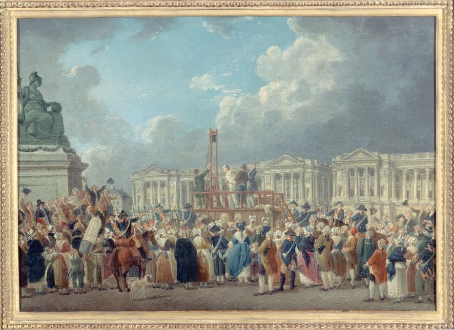 Une exécution capitale, place de la Révolution