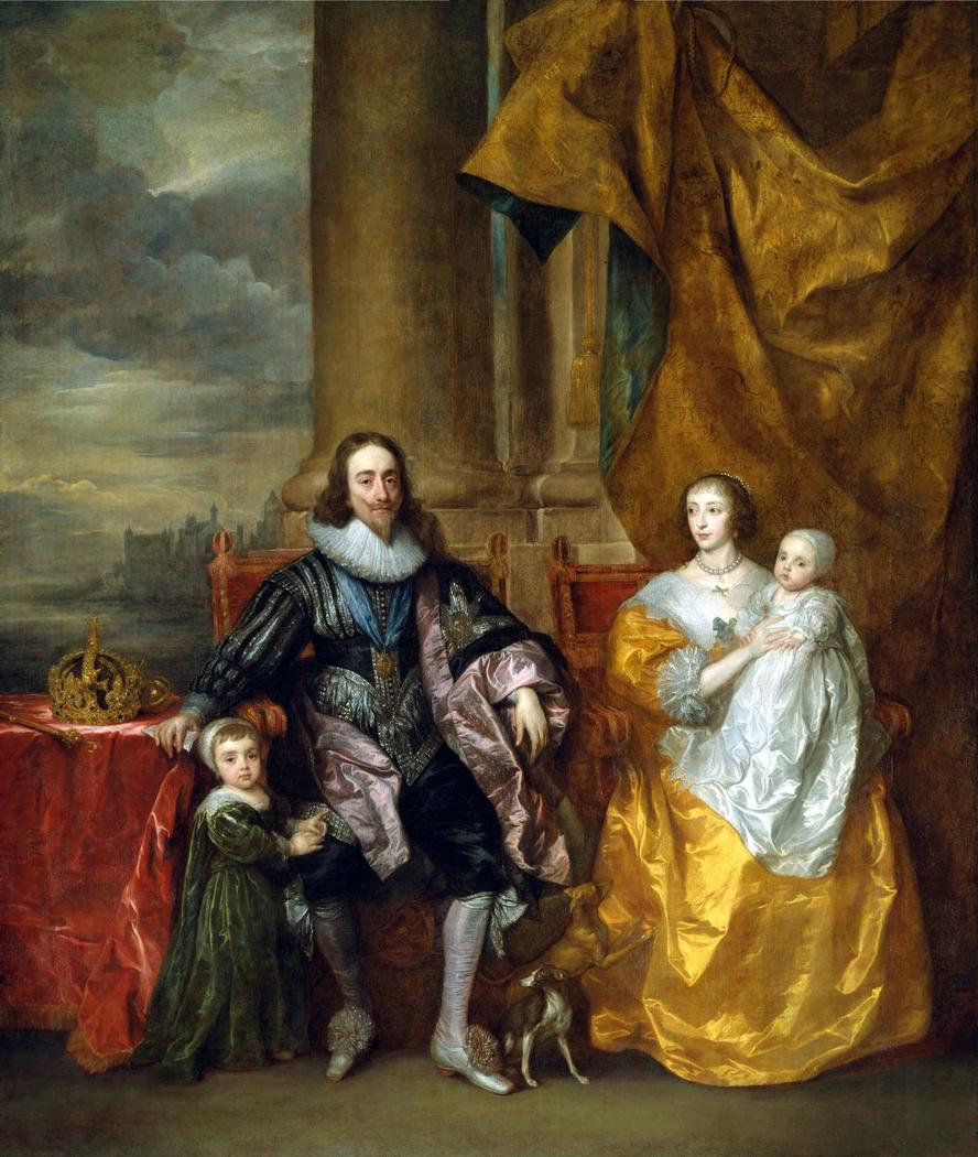 Ritratto di Carlo I ed Enrichetta Maria con i due figli maggiori