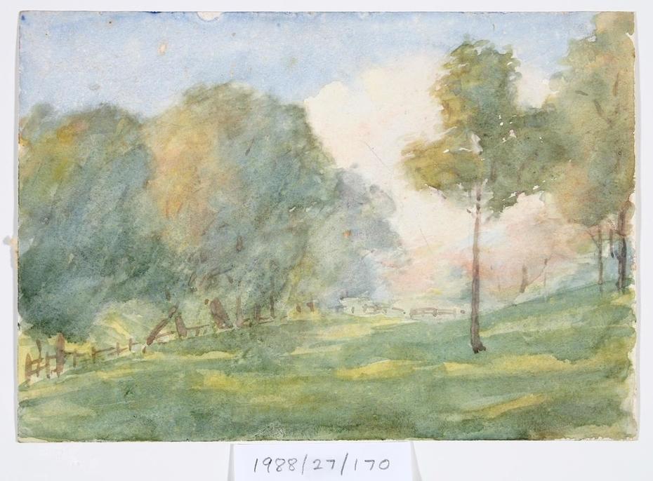 Untitled (Sunlit landscape)