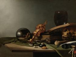 Vanitas - Still-Life (with crystal ball).