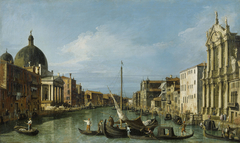 Venice: The Grand Canal with the Scalzi and San Simeone Piccolo
