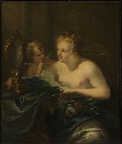 Venus at her toilet.
