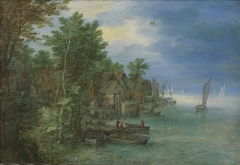 View of a Village along a River