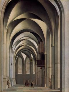 View of the ambulatory of the Grote or St. Bavokerk in Haarlem.