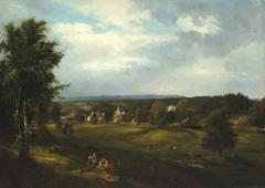Village Scene near Albany, New York