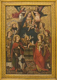 Virgin and Child, Saints and Angels