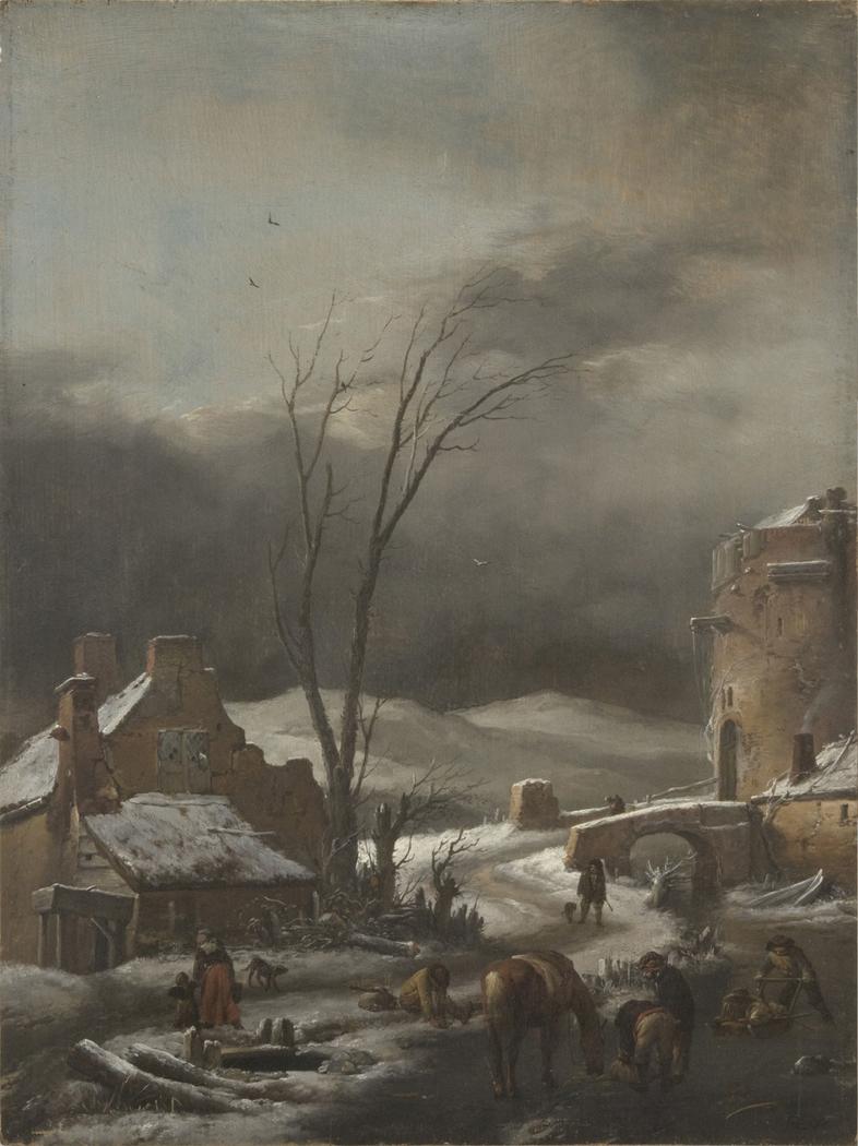 Winter Landscape with a Stone Bridge