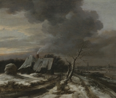 Winter Landscape with a View of the River Amstel and Amsterdam in the Distance