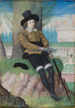 Young Man Seated under a Tree