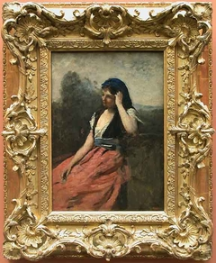 Young woman with pink skirt