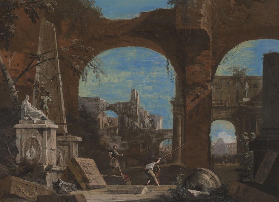 A Ruin Caprice with Roman Motifs