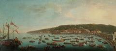 Abfahrt Ferdinands IV. nach Posilippo mit Zug der königlichen Barken