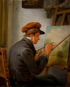Abraham van Strij jr. (1790 - 1840) in zijn atelier