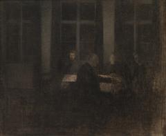 Aften i stuen